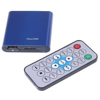 MINI 1080P Full HD HDMI V1.2 output Aluminum External HDD Media Player Remote Control   Support AV Output FREE SHIPPING