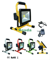 20w rechargeable flood lights Epistar 90-100lm/w high quality CE ROHS outdoor lighting 8pcs/lot