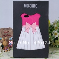 Newest Cute 3D Skirt Dress Soft Silicone Cover Case for iPhone 5 5g 5th With Retail Packaging Free Shipping