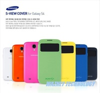 Dormancy sleep function cover flip leather case battery View housing cover for Samsung Galaxy SIV S4 i9500 with retail packing