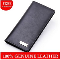 Hot 2014 New Men Wallets Male Purse Genuine Leather Wallet Men's Leather Wallet Fold Clutch Purses Day Clutches Mens Wallets