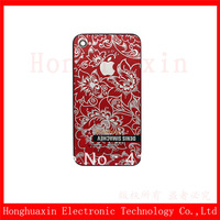 Free shipping The Fashion Russian Pattern Red Door Back Cover Housing Case For iphone 4s ,100% New