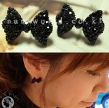 Free shipping! Western Fashion Simple Black Butterfly Bow Earring