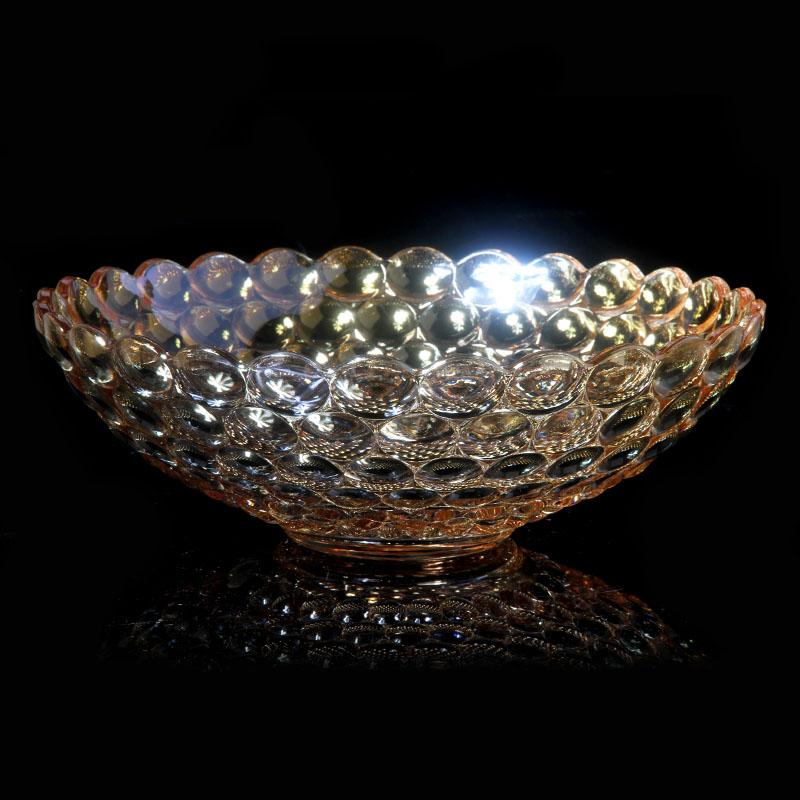 kleurrijke kristallen glas fruitschaal mode grote salontafel snoep lade fruitschaal