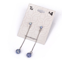 LOL-MALL.COM 2013 new Fashion women silver metal chain luxury blue multicolour full rhinestone drop earrings jewelry wholesale