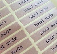 whole sale(600pcs/lot) handmade kraft paper sealing sticker label made in china kraft sticker old style handmade sealing label