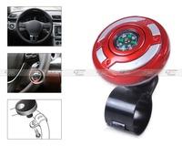 2in1 Car Wheel Steering Power Handle grip Knob Power Ball & Navigation Compass-CA01434