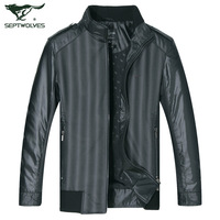 Septwolves jacket men's clothing male stand collar jacket outerwear jacket 1810