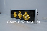 P4-Highlighting Yellow color  led indoor moving message display/screen/led destop screen
