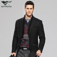 Septwolves suit the disassemblability male suit jacket men's clothing 2013 4122