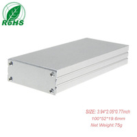 Made in china waterproof aluminum extrusion box 100*52*19.6mm 3.94*2.05*0.77inch