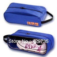 Free shipping Visual Shoes Bag Travel Waterproof Portable Shoes Protector Box Breathable Organizer Bins
