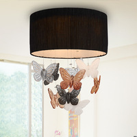 modern brief fashion  Exquisite living room  bedroom crystal  butterfly ceiling light