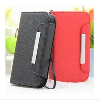 In Stock Universal wallet PU Flip Leather Case Cover For THL W100 Lenovo A820 s750 TOOKY T86 Case 4.5 inch phone Free Shipping