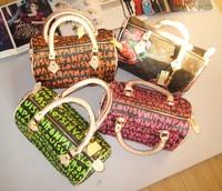 2013 Brand handbag,women's brand bag Bucket handbag women's handbag colorful wrist length doodle bag handbag