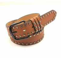 Free Shipping Bestselling Metal Rivets Design High Quality PU Leather Strap Men`S Belts Ladies` Waistband Wholesale 1pcs/Lot