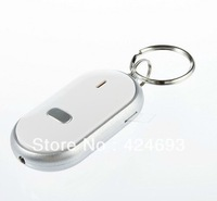 LED Key Finder Locator Find Lost Keys Chain Keychain Whistle Sound Control  30pcs/lot Free Shipping