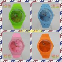 free shipping 10pcs Swiss watch brand watches s fashion watch jelly watches odm lady