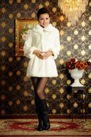 2013 New Fashion Plus Size Fall Winter Warm Luxury Overcoats Ladies Elegant Rabbite Fur Jacket Women's Fur Outerwear Coat  A521