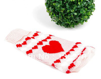 clothing Warm winter clothes dog jumper sweater knitted plaid  new Pet dog cat clothes knitted for dogs Free Shipping Pink heart