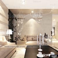 Wholesale Luxury Ikea DIY Acrylic 3D Wall Mirror Stickers Fashion Stereo Television Wall Sofa Mirror Wall Stickers Corner Flower