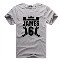 Free shipping James Short Sleeve# 6 2013 championship basketball T-shirt accept custom design