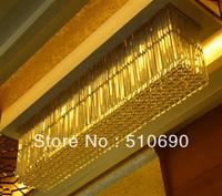Chandelier Crystal LED/ FREE SHIPPING+LED/ RECTANGLE/ K9 CRYSTAL LIGHT/HANGING/ LARGE/ LONG/ CHEAPEST/ HOT