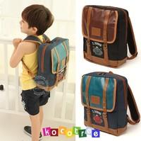 Free shipping fashion designer leather school bags for boys cute fashion kid backpack children shoulder bag travel bagitems BP16