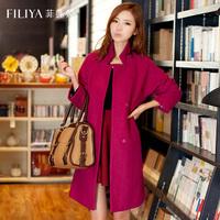 Woolen overcoat outerwear women's 2014 medium-long turn-down collar autumn and winter woolen female