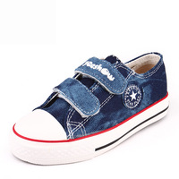 Male child shoes female canvas shoes child expert skills 2013 autumn denim shoes cotton-made baby shoes soft