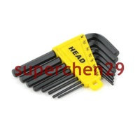 New !!!! 8pcs Pack Black Metal L Type Hex Wrench Spanner Tool Free Shipping