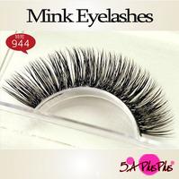 Fashion Design Brand 100% Hand-made Real Mink Hair Natural Long Thick Soft  False Eyelashes Eye Lashes Makeup Free Shipping