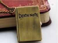 "Bronze color mini cute Hot Sale High Quality Black ""Death Note"" Pocket fob Watch necklace watch Fob Watches"
