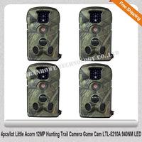 Free Shipping!! 4pcs/lot Little Acorn 12MP Hunting Trail Camera Game Cam LTL-5210A 940NM LED