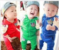 2013 cool wholesale kids wear fashion baby boy winter clothes 2pcs sets Sport suit fleece clothing set casual suits 5pcs/lot