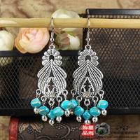national  classic vintage tibetan miao silver drop earring  925 ear hook jewelry earrings