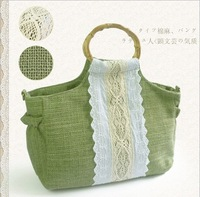 fashional lady canvas handbag free shipping