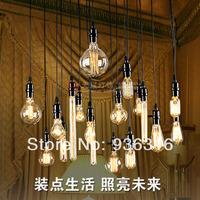 18pcs bulb Lamp silk antique bulb pendant light nostalgic vintage american pendant light