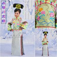 Costume lock heart jade child costume princess clothes green