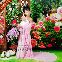 Child costume clothes fairy guzheng Pipa
