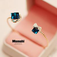 Natural crystal magic cube bow bracelet female fashion jewelry bracelets hand ring rose gold