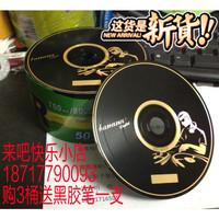 Double faced vinyl cd-r clooney 50 vinyl cd blank disc black dish music cd disk recordable