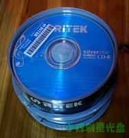 Ritek silver blue music audio cd-r disc blank cd rom 25 bottled