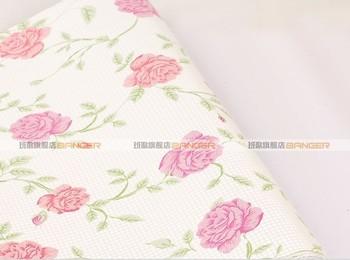 Pvc wallpaper rose bedroom wallpaper brief furniture