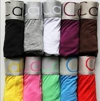 New cuecas lot 3 calcinhas sexy fashion men's boxer  underwear panties 12 Color Multi Size free shipping wholesale