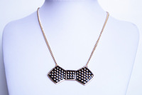 Fashion , bow oil short design necklace 020