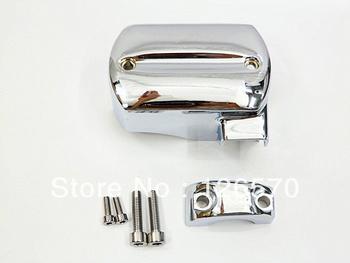 FREE SHIPPING  Chrome Master Cylinder Cover for 1998-2013 Yamaha V-Star XVS 650 950 1100 1300 1998-2013