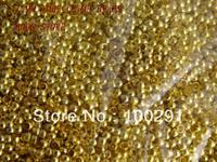 2mm gold TONE crimp tube crimp beads end beads Jewelry Components /10000PCS/LOT