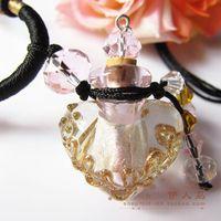 Essential oil bottle necklace pendant colored glaze accessories handmade female perfume bottle