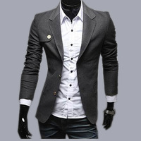 Free shipping qiu dong men suit splicing man suit business casual men suit suit fashion men's cultivate one's morality